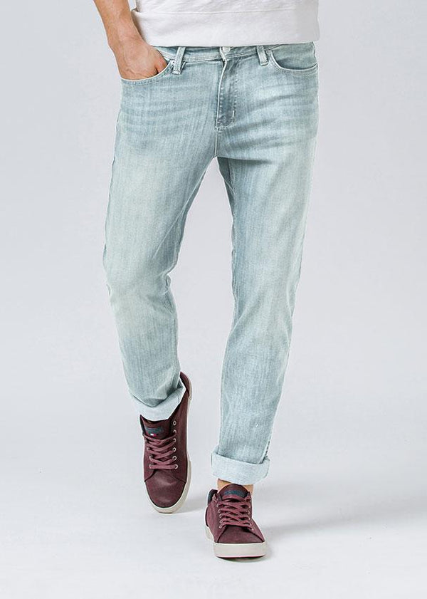 acid wash relaxed fit stretch jeans front