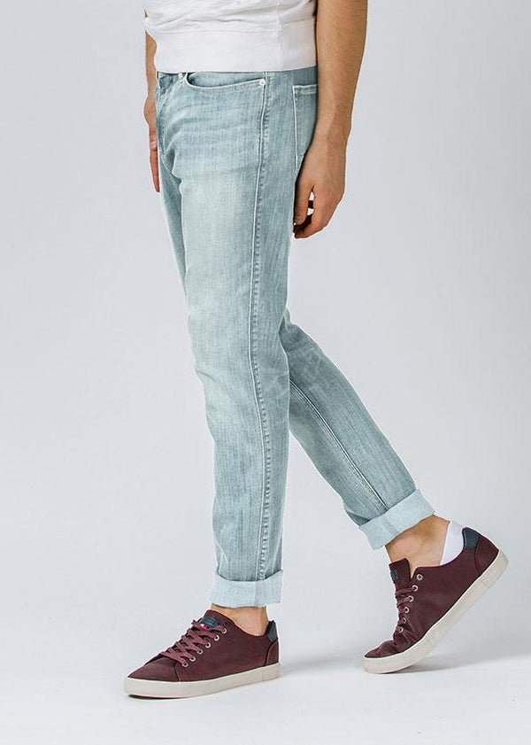 acid wash relaxed fit stretch jeans side