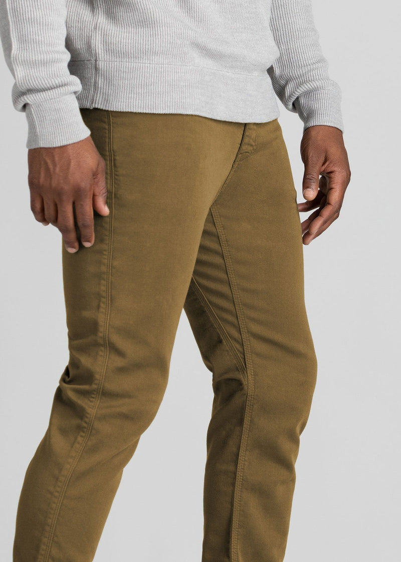 mens mustard dress sweatpant side detail