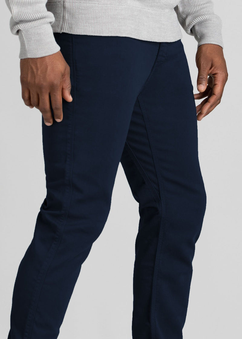 mens navy dress sweatpant side detail
