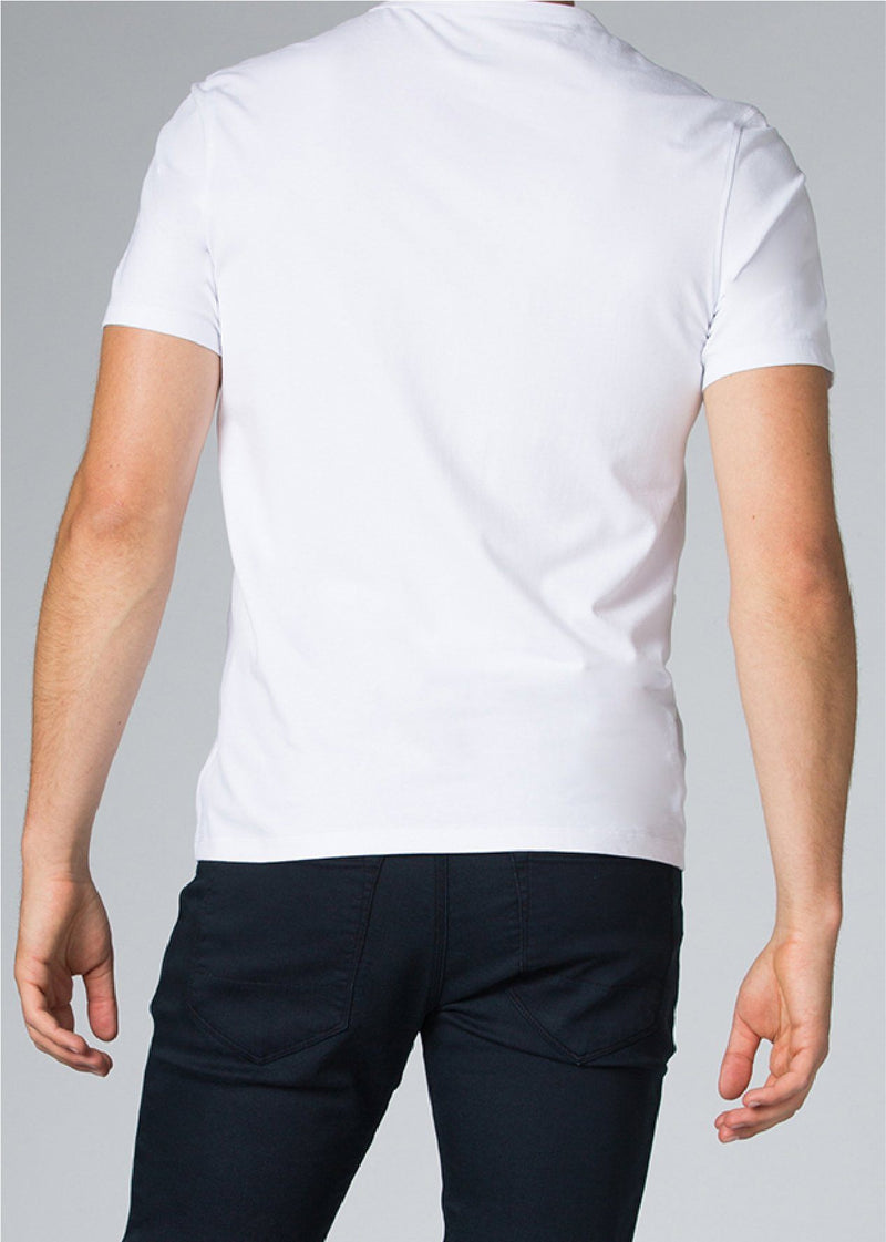 mens white breathable lightweight t-shirt back
