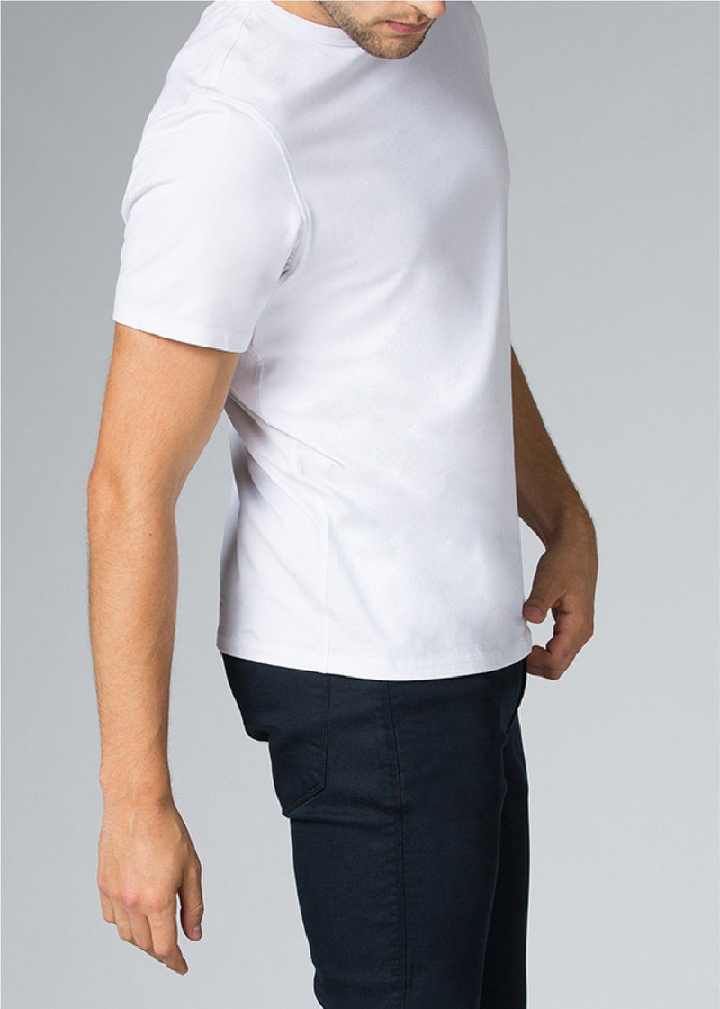 mens white breathable lightweight t-shirt side