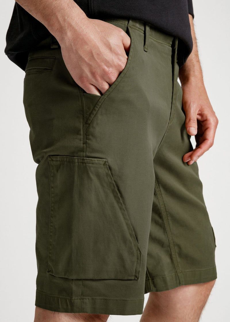 mens green athletic adventure pant detail
