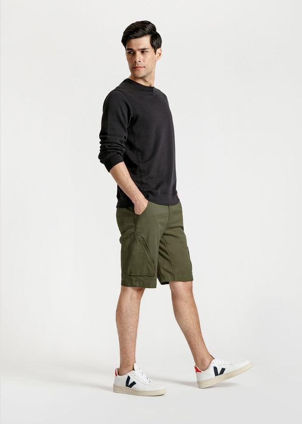 mens green athletic adventure pant full body