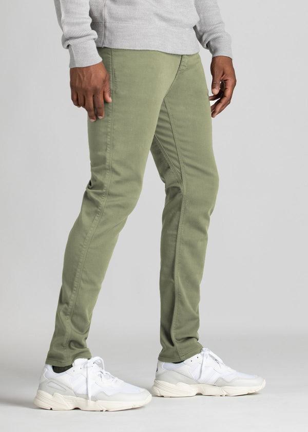 mens light green dress sweatpants slim side