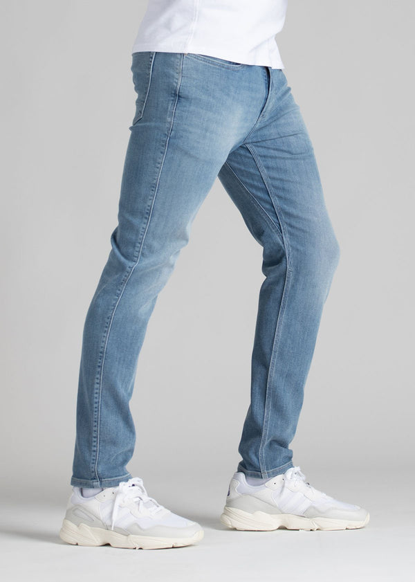 mens light wash slim fit stretch jeans side
