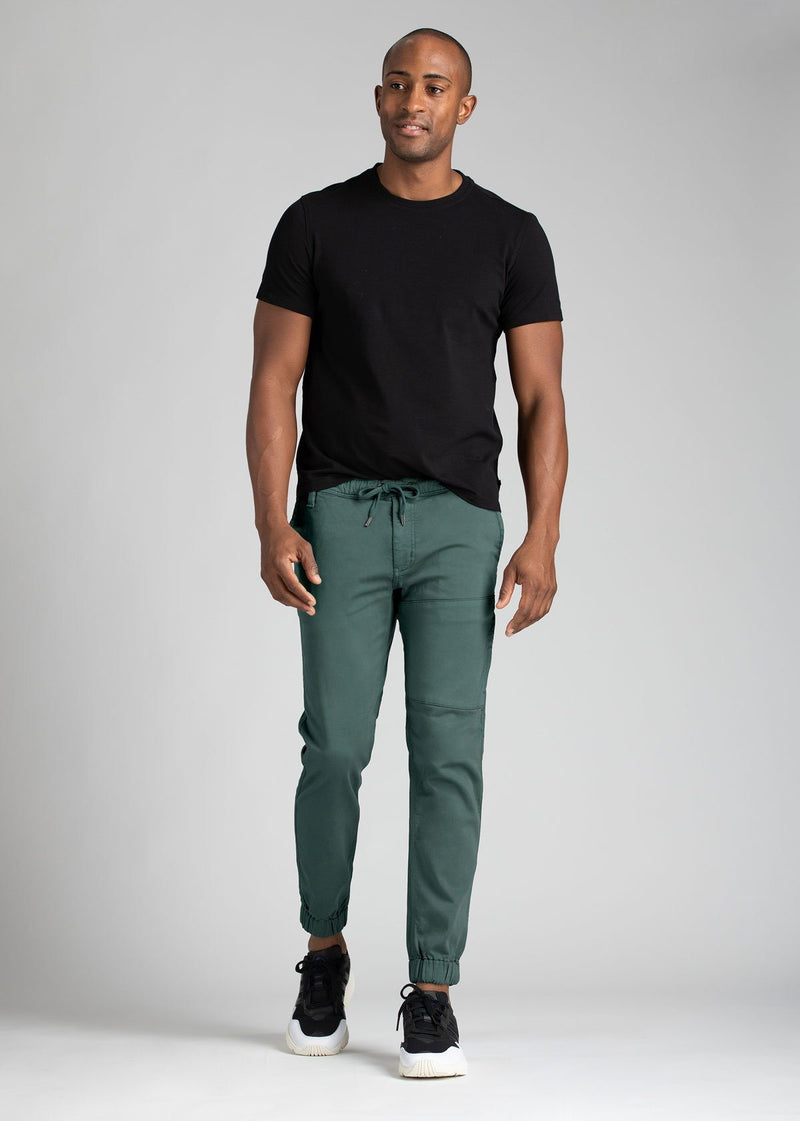 mens teal green athletic jogger front