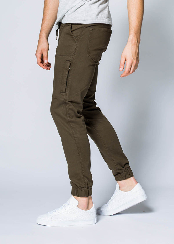 army green athletic jogger side