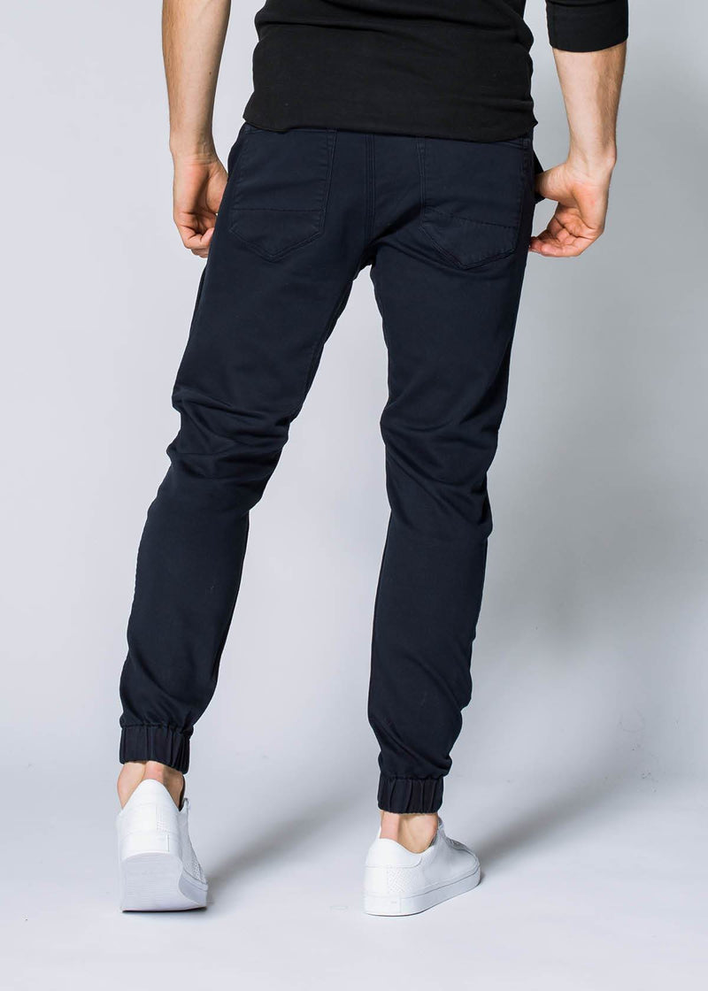 navy blue athletic jogger back