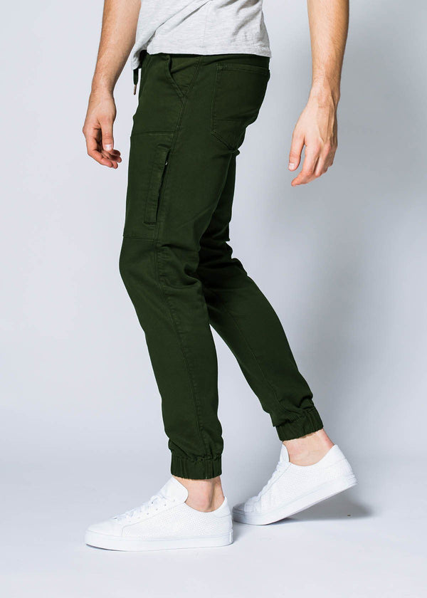 olive athletic jogger side