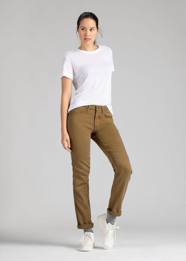 womens mustard slim straight fit dress sweatpant full body cuffed