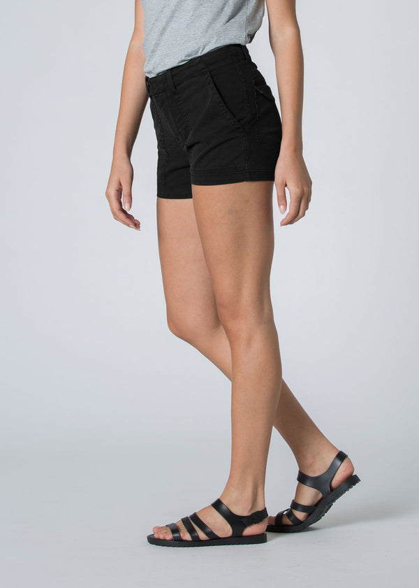 womens black adventure athletic shorts side