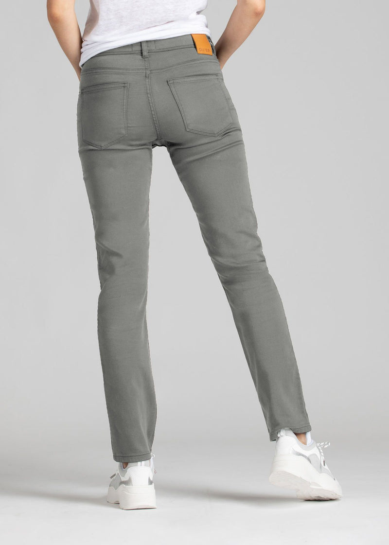 womens grey slim straight fit dress sweatpant back