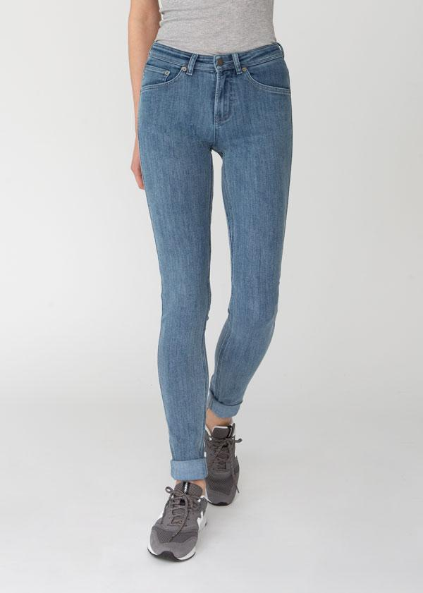 Performance Denim Mid Rise Skinny - Indigo 25