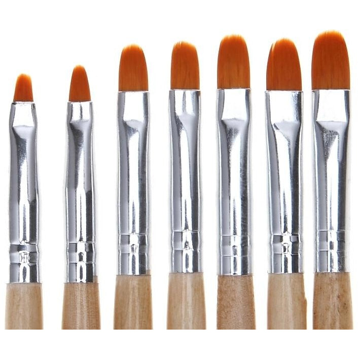 7 Pc Round Gel Brush Set - Vroni Nail Art