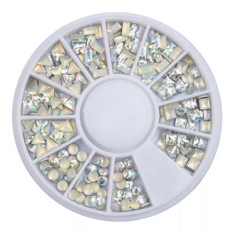Holographic Studs Nail Art Wheel