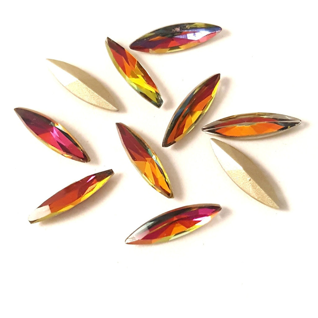 Colorful Marquise Czech Pointed Crystals - Vroni Nail Art