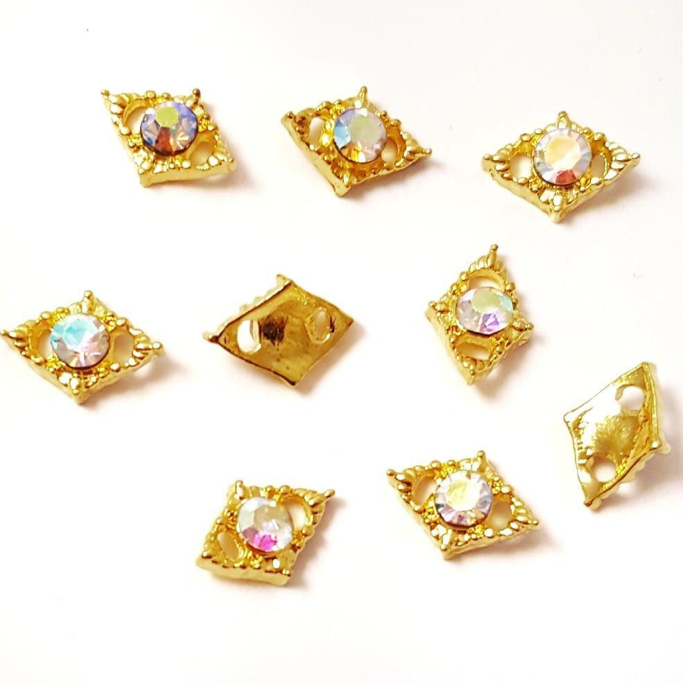 AB Gold Triangle Shaped Nail Charm - Vroni Nail Art