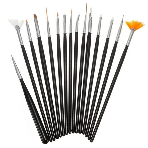 12 PC Nail Art Brush Set - Vroni Nail Art