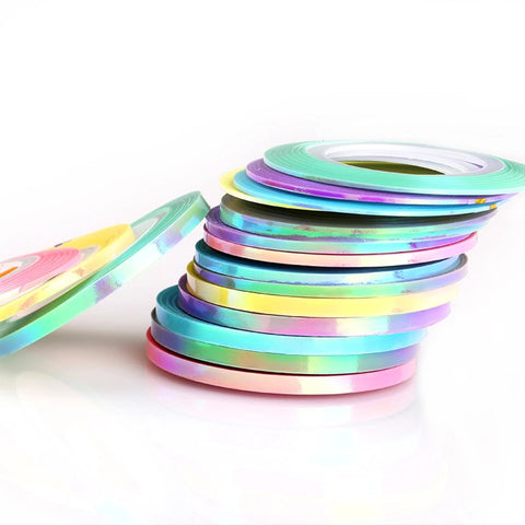 21pc Mermaid Iridescent Striping Tape - Vroni Nail Art