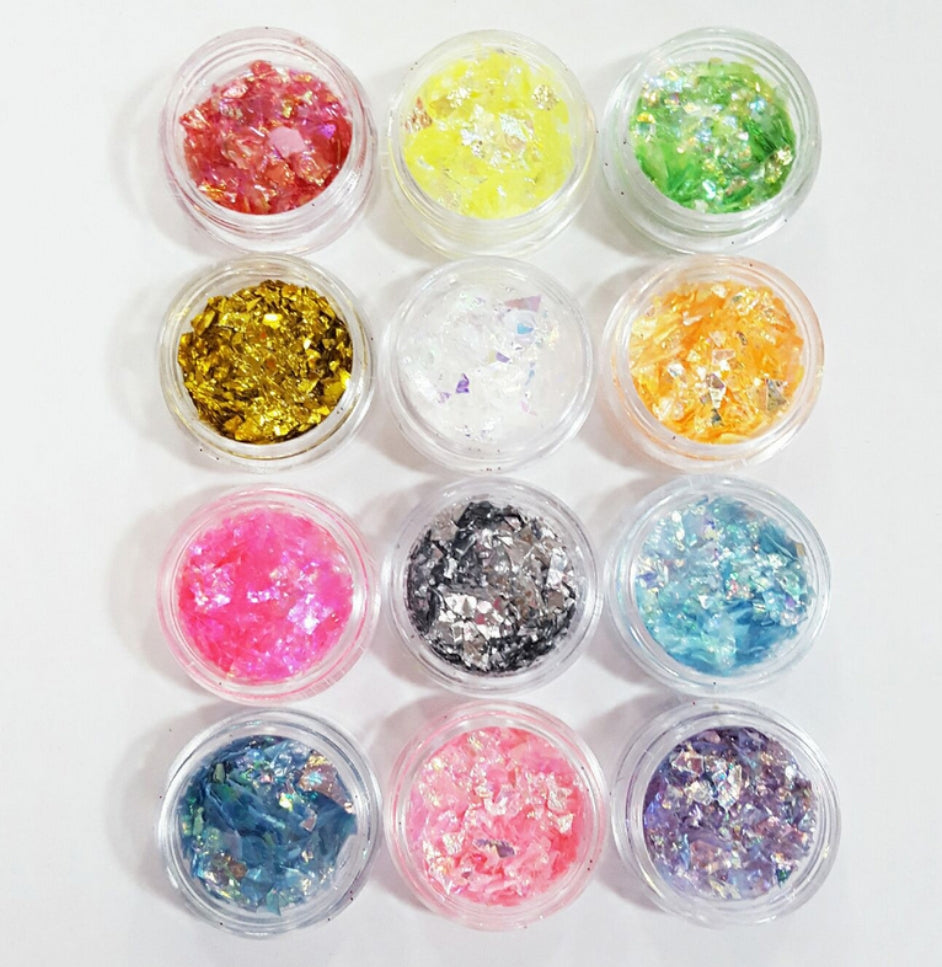 Ice Mylar Flakes Set
