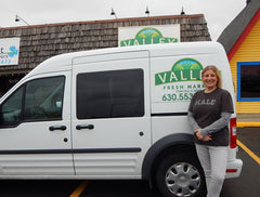 Andie with Valley Fresh Market Delivery Van