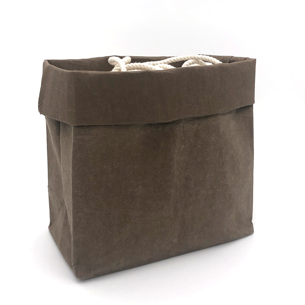 brown grocery bag folded down