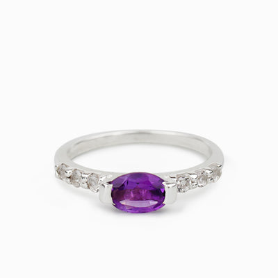 Amethyst & White Topaz Ring