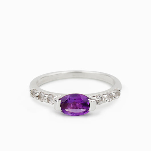 Amethyst and White Topaz