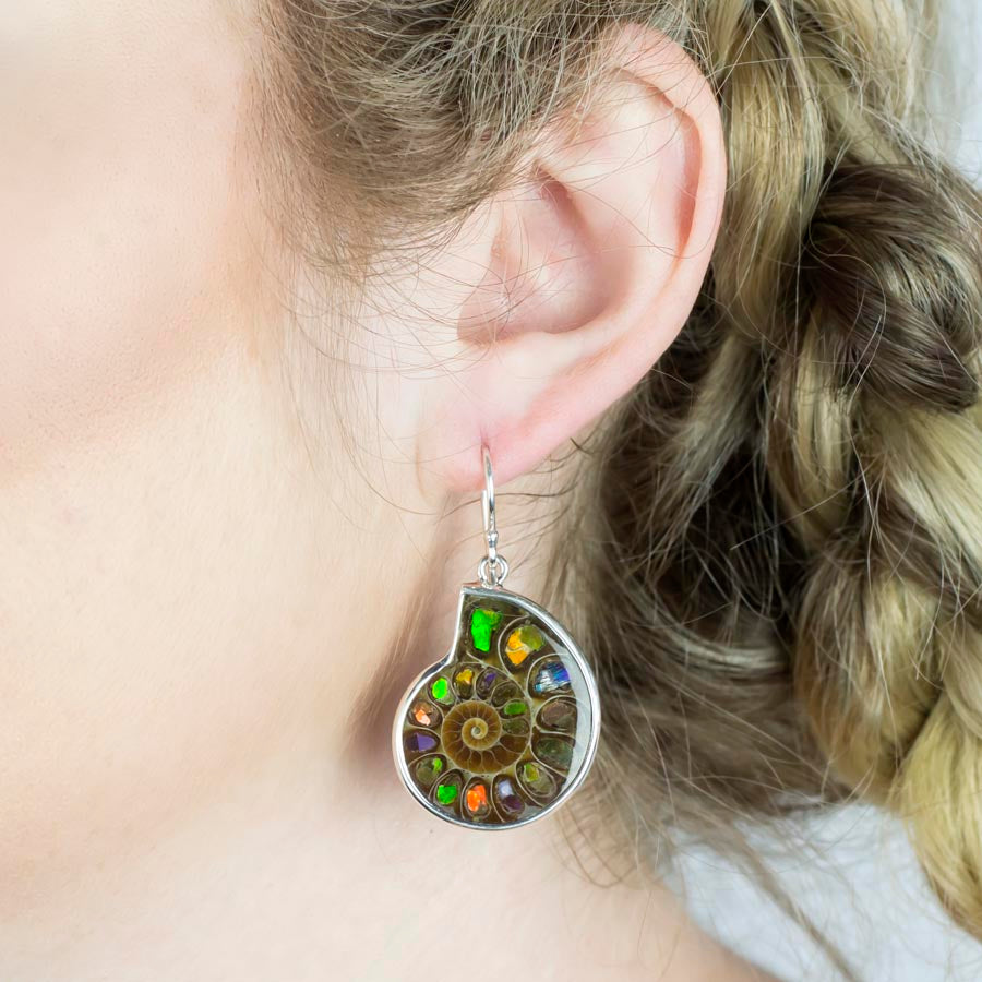 Ammolite Drop Earrings