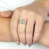 Aquamarine Ring on Model