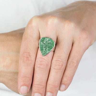 Aventurine Ring on Model