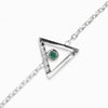 Triangulo: Emerald & Diamond Bracelet