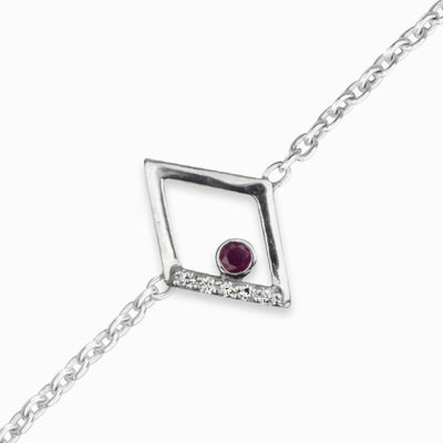 Diamante: Ruby & Diamond Bracelet