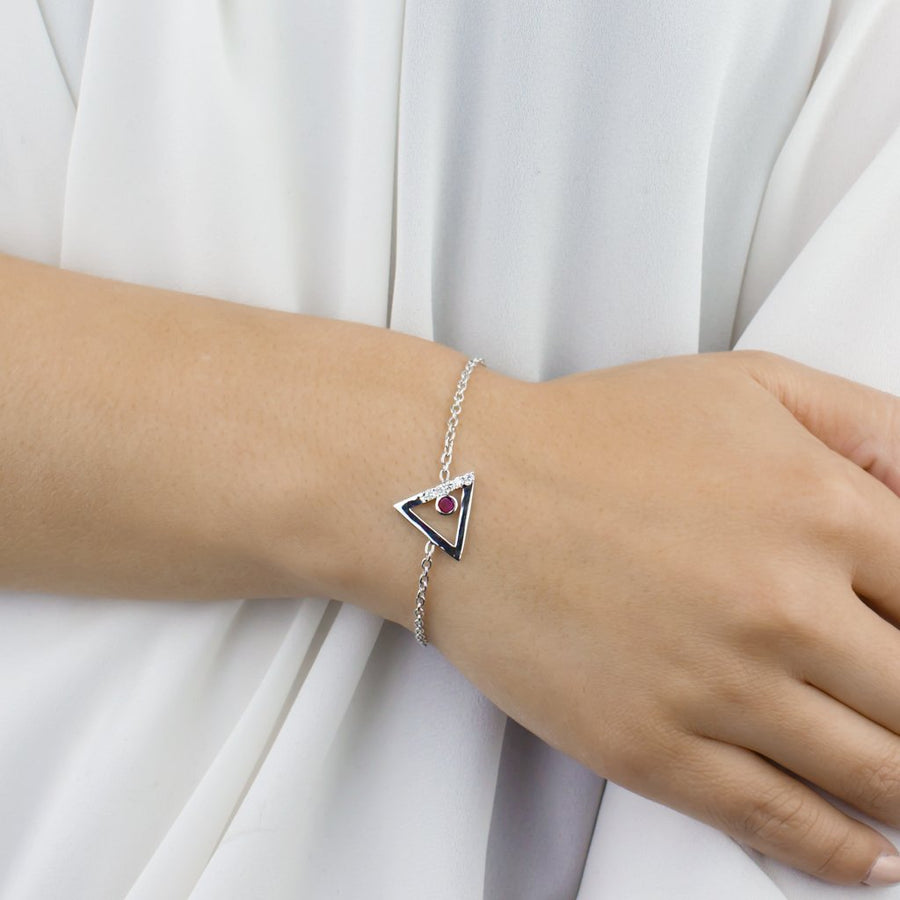 Triangulo: Ruby & Diamond Bracelet