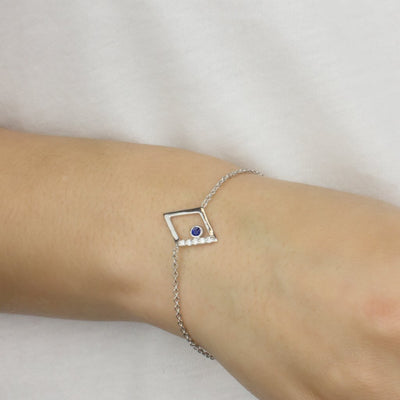 Diamante: Sapphire & Diamond Bracelet on Model