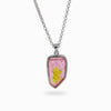 Pink and Yellow Bi-Color Tourmaline Pendant