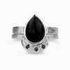 Onyx and Black Diamond Ring