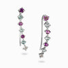 Amethyst and Blue Topaz Ear Climbers