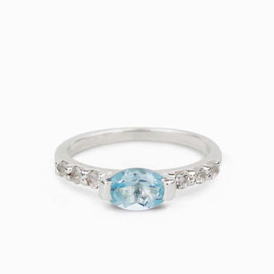 Blue Topaz and White Topaz