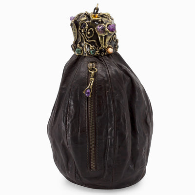 Leather Gemstone Bag