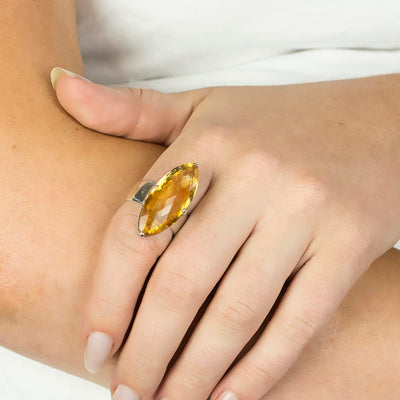 Citrine Ring on Model