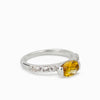 Citrine and White Topaz Ring