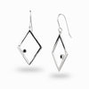 Diamante: Black Spinel & Diamond Earrings