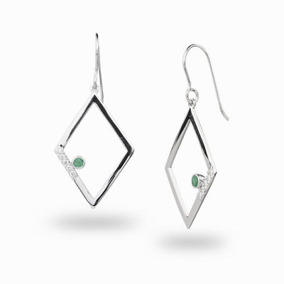 Diamante: Emerald & Diamond Drop Earrings