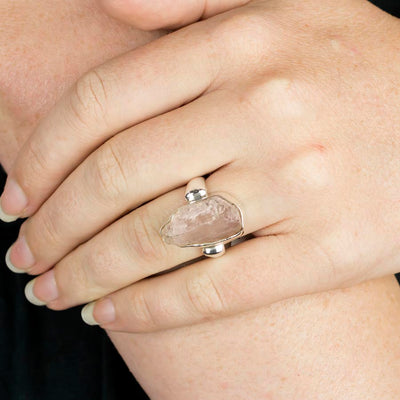 Kunzite Ring on Model