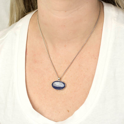 Kyanite Pendant on Model