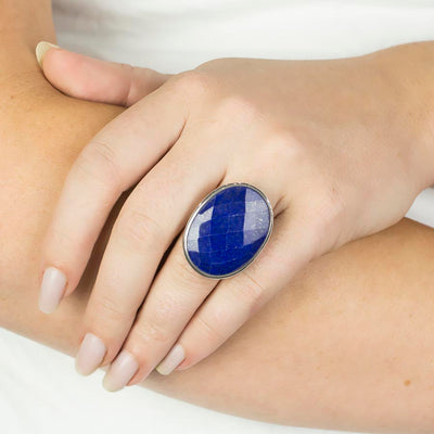 Lapis Lazuli Ring on Model
