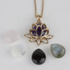 Rose Gold Vermeil Lotus Flower Locket