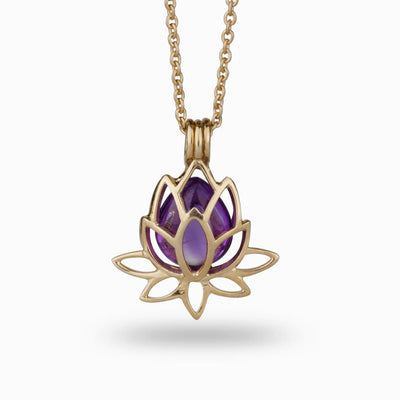 Lotus Flower Locket Rose Gold Vermeil